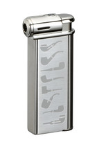 Sarome PSP Piezo Electronic Pipe Lighter - Silver Pipe Patterm