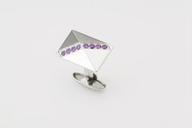 Sarome Metal with Purple Crystal Cufflinks