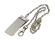 Sarome Money Clip - Silver Hairline + Chain
