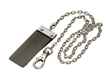 Sarome Money Clip - Gun Metal Hairline + Chain