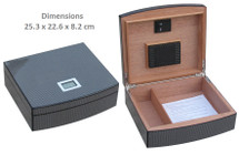 Desktop Humidor + Digital Hygrometer
