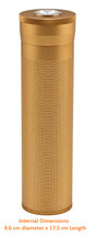 Cigar Tube Travel Humidor - Gold