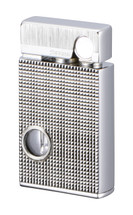 Sarome SV9B Flint Lighter - Silver lattice diamond cut