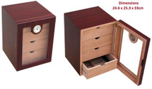 Four Drawer Cigar Cabinet