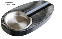 Single Cigar Ashtray - Carbon Fibre Paper