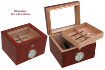 Wooden Glass Top Humidor - Matte Finish