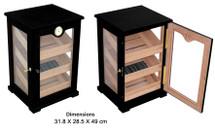 7 Drawer Cigar Cabinet - Black Matte Finish
