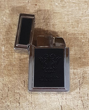 Windproof lighter  + Leather carry case - Black