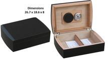 Small Desktop Humidor - Matte Black