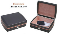 Small Desktop Humidor - Black with PVC Trim