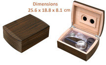 Small Humidor Gift Set - Walnut