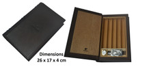 Book Format Leather Travel Humidor