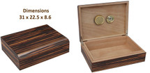 Desktop Cigar Humidor - Glossy Brown