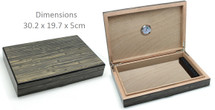 Slim Cigar Humidor - High Gloss Bamboo