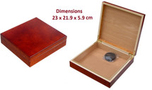Small Cigar Humidor - Matte Finish Mahogany