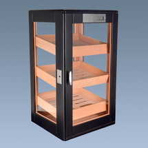 Wooden Display Cabinet with Digital Hygrometer