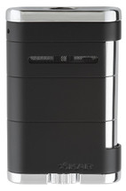 Xikar Allume Tabletop Triple Flame Lighter - Tuxedo Black