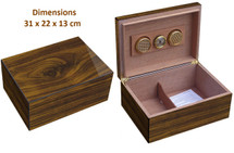 Desktop Humidor - High Gloss Walnut