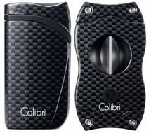 Colibri Falcon + V-Cut Gift Set - Black Carbon Fibre