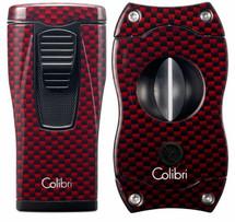 Colibri Monaco + V-Cut Gift Set - Red Carbon Fibre