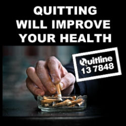 Quitting smoking will improve your health