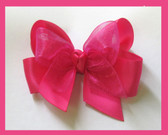 Small Satin Sheer Bow