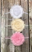 Shabby Flower Infant Band