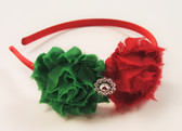C-Shabby Flower Headband