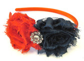 4TH Shabby Flower Headband