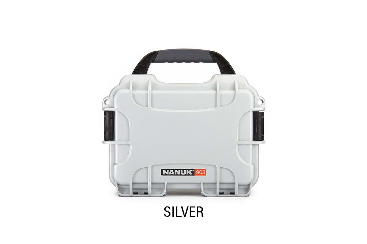 Nanuk 904 Case w/foam Silver