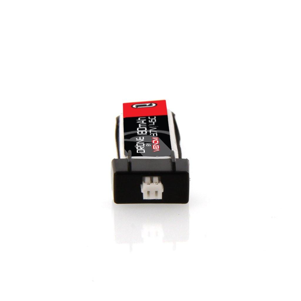 Venom 45C 1S 180mAh 3.7V LiPo Micro Drone Battery with E-Flite MCX Plug