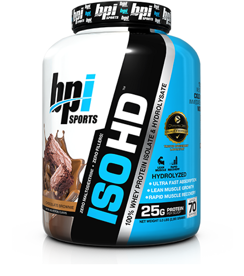 BPI Sports ISO HD 100% Whey Protein Isolate & Hydrolysate 2205 G (5 LB)