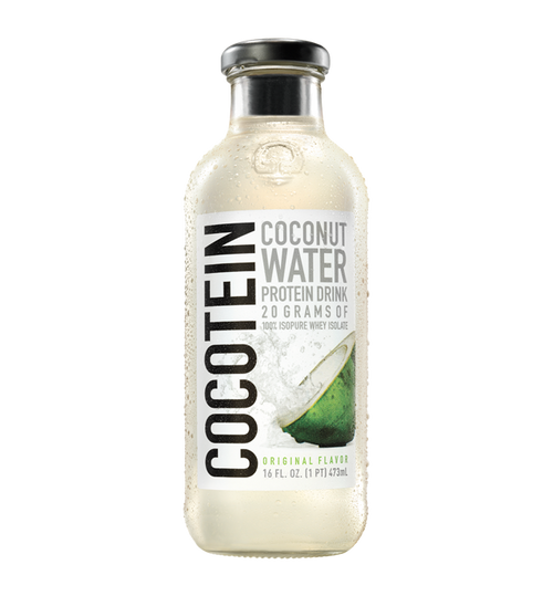 Isopure Cocotein Coconut Water Protein Drink X 12 Glass Bottles Pack 473 ML (16 FL OZ)