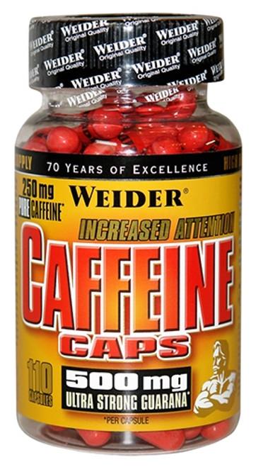 Weider Caffeine Caps 110 Capsules