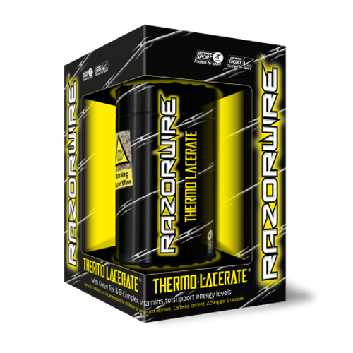 Razorwire THERMO LACERATE Yellow 100 Capsules