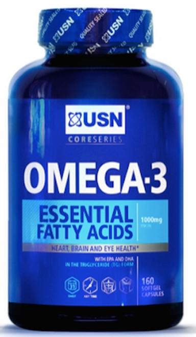 USN OMEGA 3 Essential Fatty Acids 160 Softgel Capsules