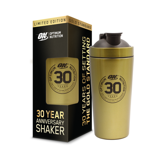 Optimum Nutrition Limited Edition Stainless Steel Shaker Bottle 700 ML (24 Fl OZ) Gold