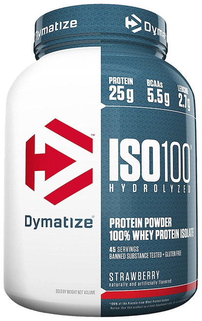 BUY 2 FOR £115 - Dymatize ISO 100 Hydrolyzed 100% Whey Protein Isolate 2.3 KG (5 LB) New Look