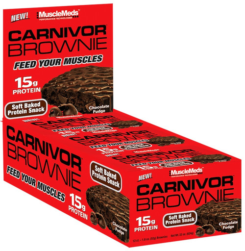 MuscleMeds Carnivor Brownie 52 G x 12 Bars Pack
