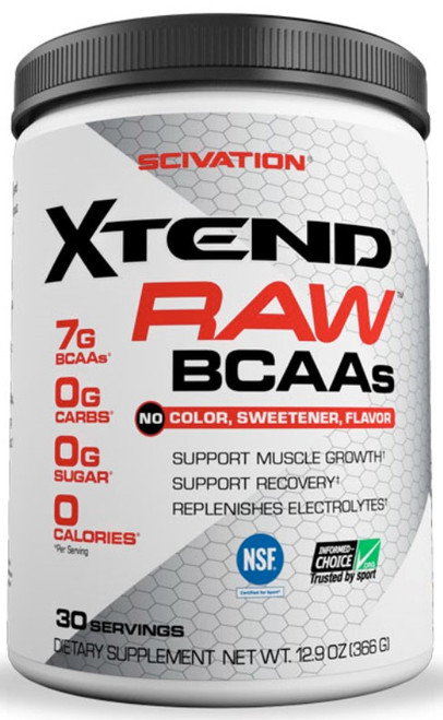 Scivation Xtend Raw BCAAs 30 Servings Unflavored