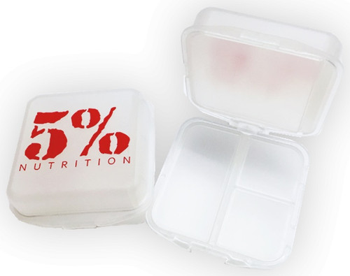 5% Nutrition Pill Box - Clear/Red