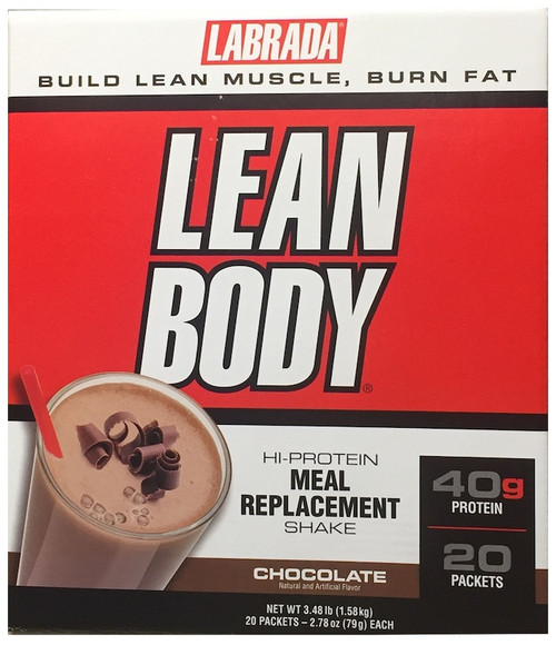 BUY 2 FOR £85 - Labrada Lean Body Hi - Protein Meal Replacement Shake x 20 Sachets Pack