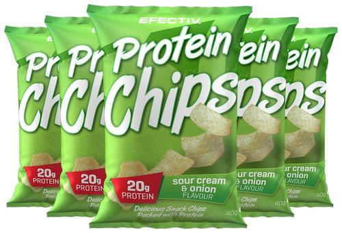 Efectiv Protein Chips 40 G x 6 Pack