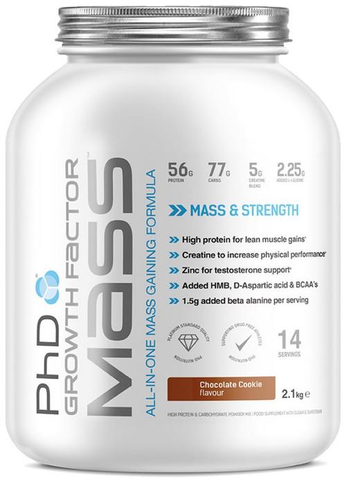 PhD GROWTH FACTOR MASS 2.1 KG (14 Servings) - MusclePetrol.com