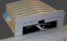 GeminiJets Wide-Body Airport Hangar 1/400