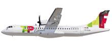 Herpa Snap-Fit TAP Express ATR-72-600 1/100 611206
