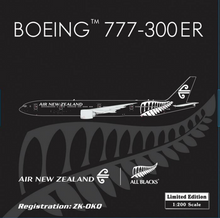 "Phoenix Air New Zealand Boeing 777-300ER ""All Black"" 1/200"