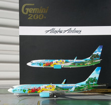 GeminiJets Alaska Boeing 737-800W Spirit of Island 1/200 G2ASA399