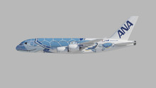 JC Wings All Nippon Airways Airbus A380 Flying Honu Lani Livery JA381A 1/400