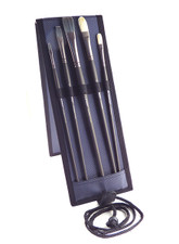 Richeson Oil and Acrylic 5 Piece Brush Kit with Easel Back Case.